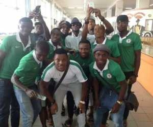 Photos: 2face Idibia And U-23 Players Hangout In Gambia